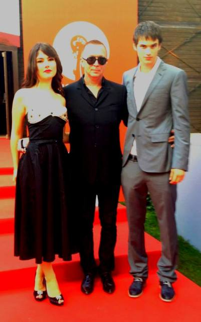 Bruce LaBruce along with  Katie Boland and  Pier-Gabriel Lajoie at the Venice International Film Festival, photo courtesy of Bruce LaBruce