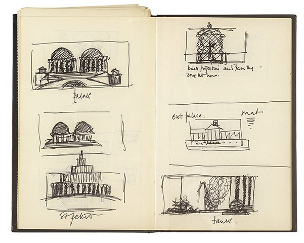 Sketches for Sylvano Bussotti's opera by Derek Jarmanm directed by him in Florence in 1988