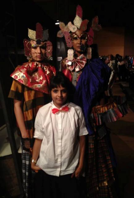 Little Shilpa along with the creation she made