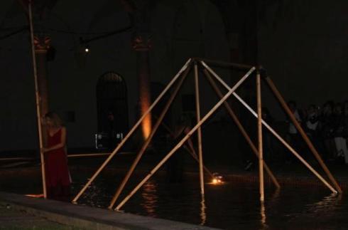 The performance, photo by Giorgio Miserendino