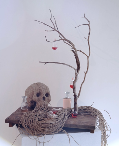 The scent elixir of life, sculpture by Jim Skull