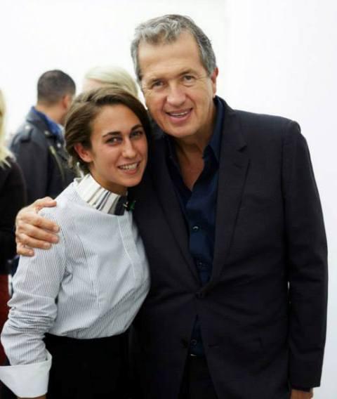 Delfina Delettrez and Mario Testino, photo courtesy of Delfina Delettrez