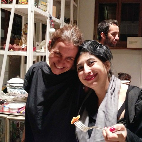 Gentucca Bini, me and the farfalle at her house