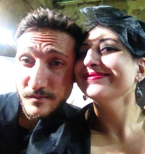 Marco De Vincenzo and me, photo by N