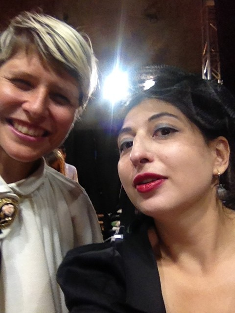 Meetings at the backstage: me and Elisa Nalin, photo by N
