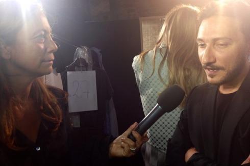 Marco De Vincenzo interviewed by the journalist Cinzia Malvini, photo by N