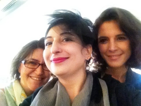 Pinar and Deniz Yegin and me, photo by N