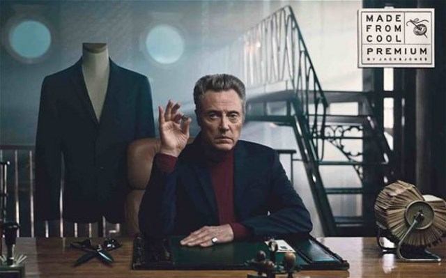 """Christopher Walken, still image from the video """"Made from cool"""""""