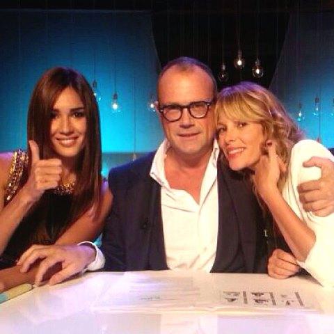 Silvia Toffanin, Cesare Cunaccia and Alessia Marcuzzi, photo courtesy of Alessia Marcuzzi