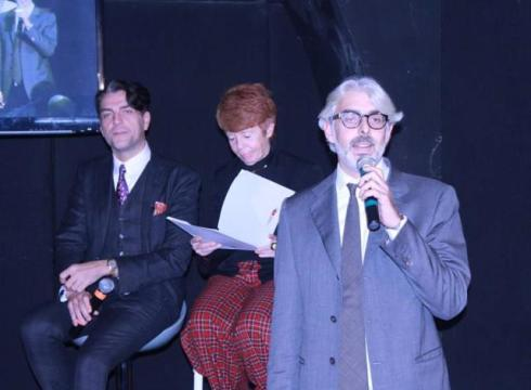 The panel of experts featuring in the talk along with Lupo Lanzara, photo by Giorgio Miserendino