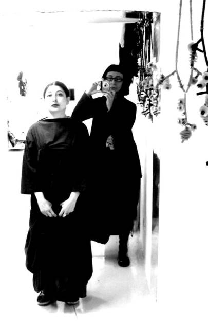 Me in Myriam B. at the Aspecifico Atelier with Myriam B.