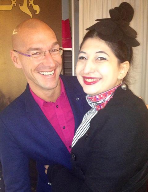Alessandro De Lorenzo and me, photo by Silvano Arnoldo