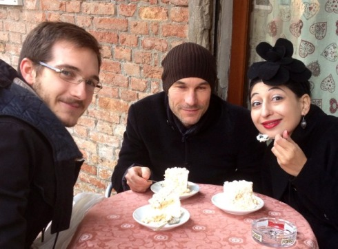 Paolo Franzo, Silvano Arnoldo, me and the meringate cake