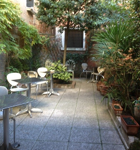 The garden at the Beatrice tea room, photo by N