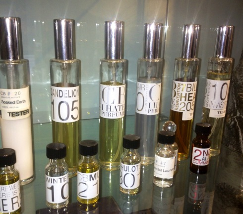 The selection of scents by  CB I hate perfumes including The 2nd (Alan) Cumming, photo by N