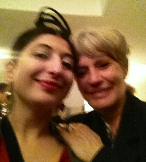 Valeria Regazzoni and me, photo by N