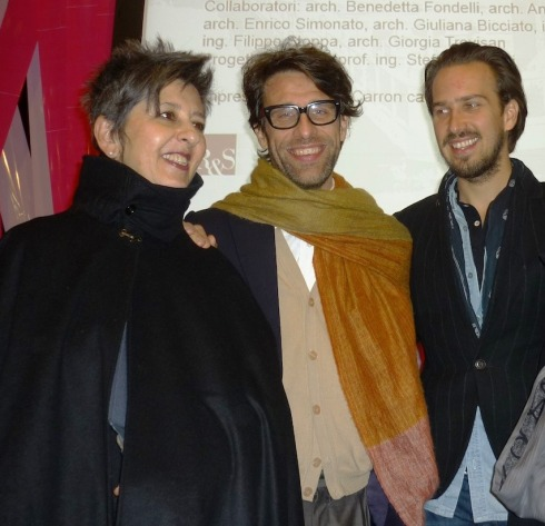 Maria Luisa Frisa, Cristiano Seganfreddo and Stefan Siegel, photo by N