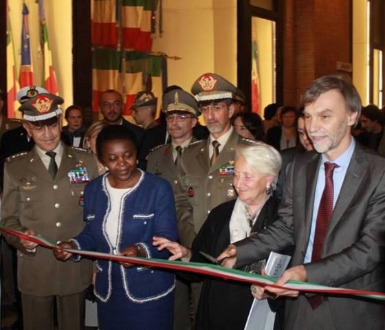 The Minister Cecile Kyenge, Deanna Ferretti Veroni and the Minister Graziano Delrio, photo by Giorgio Miserendino