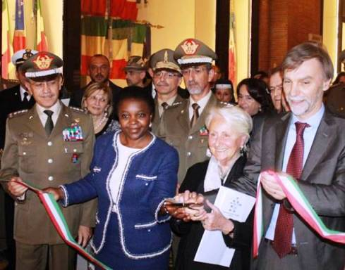 The Minister Cecile Kyenge, Deanna Ferretti Veroni and the Minister Graziano Delrio, photo by Giorgio Miserendino