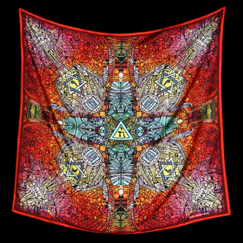 Foulard Kabbalah by Svetlana Schmidt, photo courtesy of Orsorama