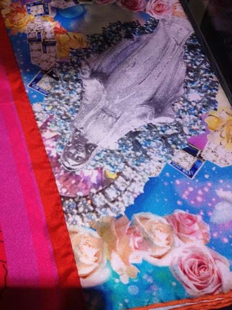 The marvelous scarf by Svetlana Schmidt, photo by N