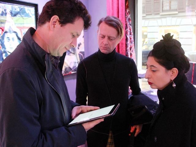 Matteo Bonelli, me and Andy at Orsorama, photo by Svetlana Schmidt
