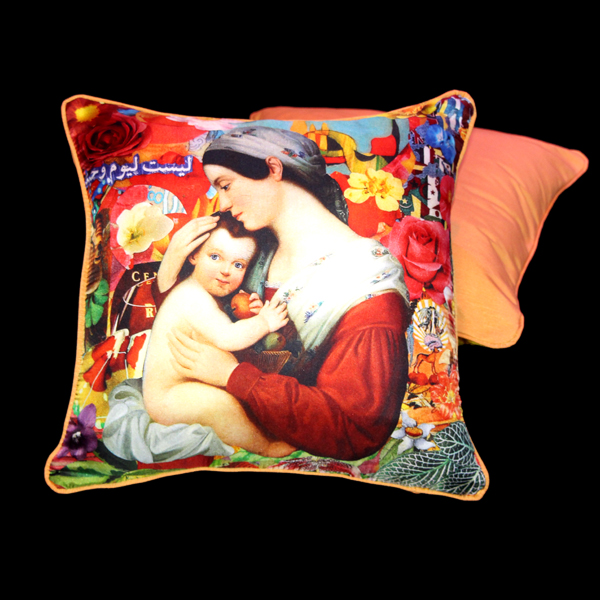 Silk pillow Felipe Cardeña for Orsorama, photo courtesy of Orsorama