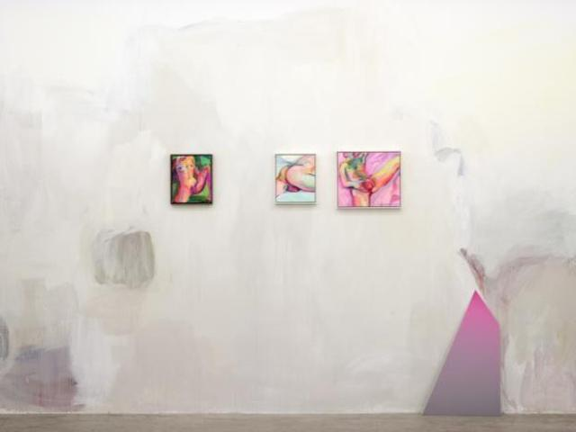 Installation photo of a Wall painting, Celia Hempton, photo Installation photo of courtesy of Galleria Lorcan O' Neill