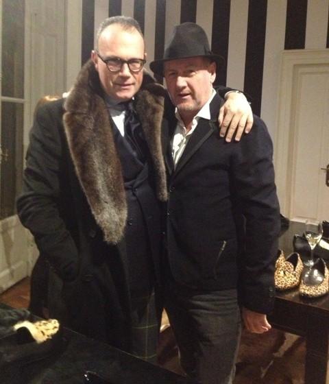 Cesare Cunaccia and a friend, photo by N