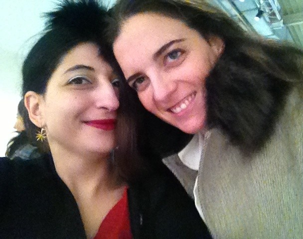 Luna Lanzara and me, photo by N