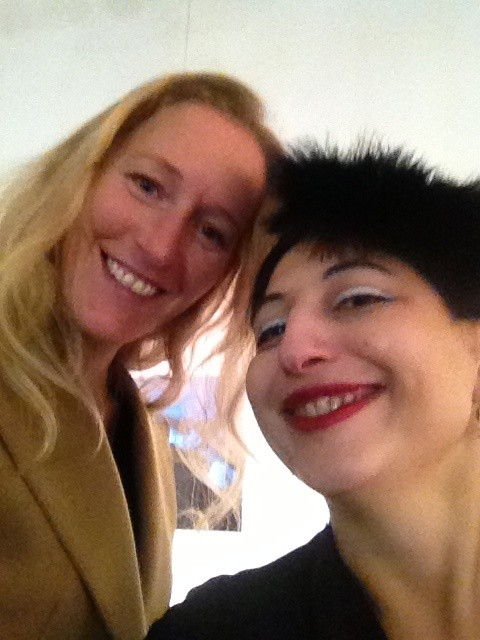 Giorgiana Ravizza and me, photo by N