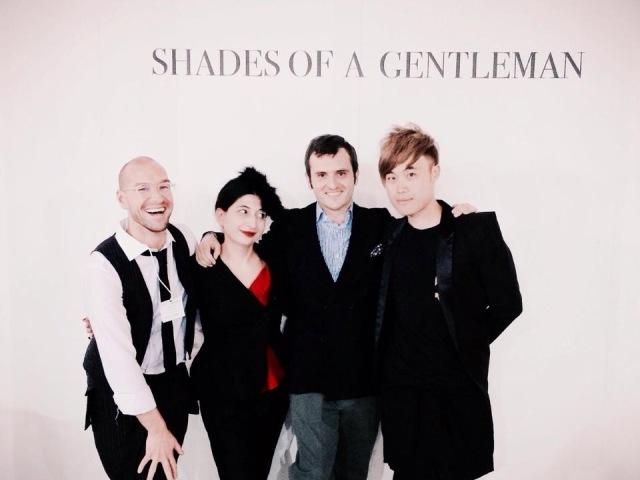 A circle of friends: Alessandro De Lorenzo, me, Max Nicoloro and Vincent Law, photo by Anna Porcu