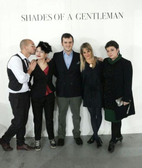 Alessandro De Lorenzo, me, Max Nicoloro, Anna Porcu and her friend, photo by Vincent Law