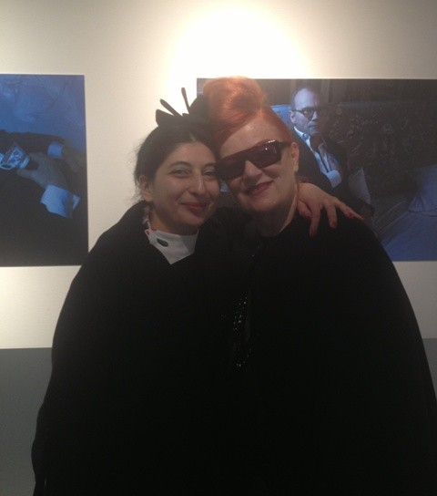 The one and only Roberta Valentini( Penelope Brescia) and me, photo by Alessandro De Lorenzo