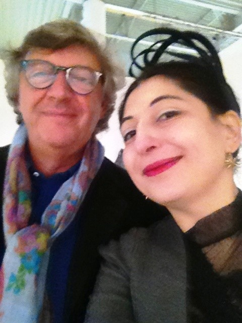 Alberto Guardiani and me, photo by N