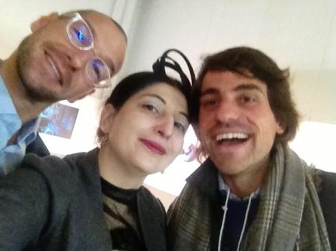 Alessandro De Lorenzo, me and Federico Bosisio, photo by N