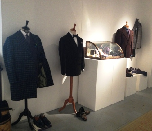The sartorial showcase featuring the creations by Atelier Santerasmo Cinque, Santoni, Isaia, Louis Leeman, photo by N