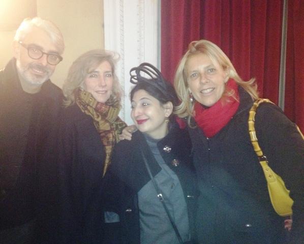 Lupo Lanzara, Alessandra Spalletti, me and Fabiana Balestra, photo by Caterina Gatta