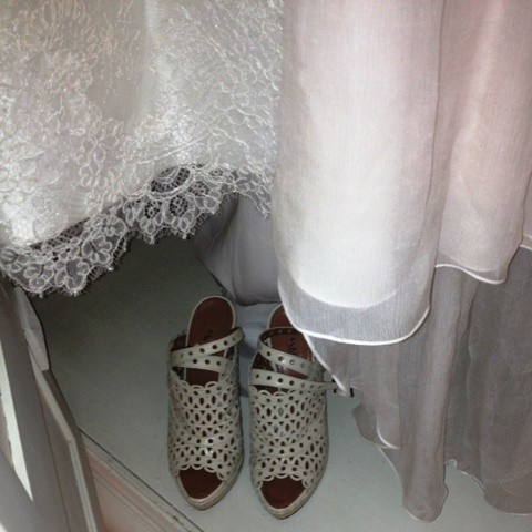 Lace, silk and a vintage details, the shoes by Alaia, photo by N