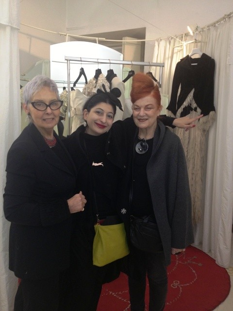 The one and only Roberta Valentini, me and the nice Penelope-sque being part of Penelope family, photo by N