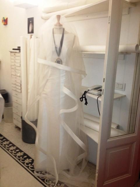 Dress by Comme des Garçons, necklace by Lanvin, photo by N