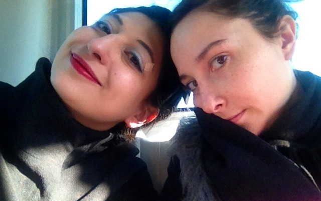 Lucia Russo and me, photo by N