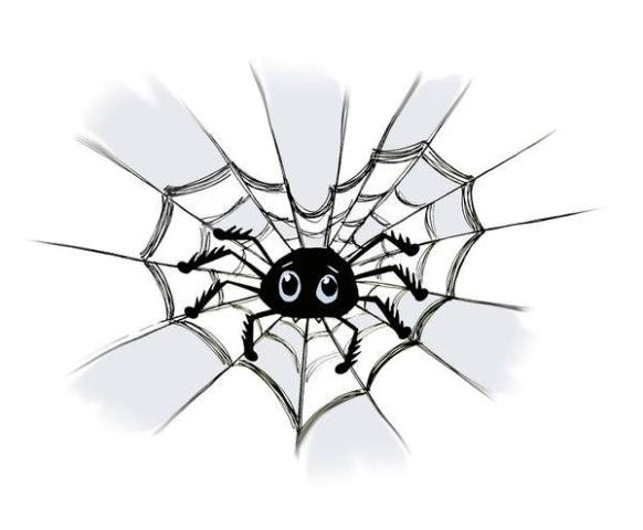 A heart and a spider from Mario Salvucci