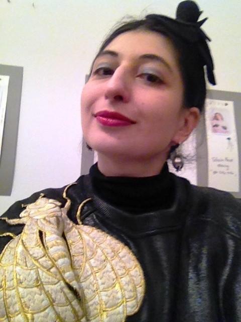 Me, myself and I wearing the Schiap-felp by Gentucca Bini