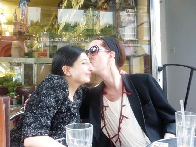 A sweet Summer memory: Justin Vivian Bond & me in London