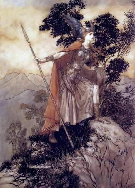 "Brunhilde, from ""Valkyrie""  , Arthur Rackham"