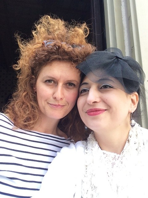 Adelaide Corbetta and me, photo by N