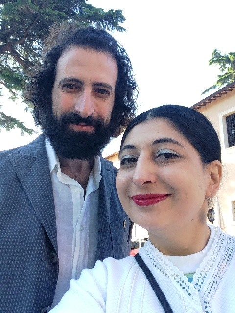 Meo Fusciuni (aka the cousin of Fabio Quaranta) and me, photo by N