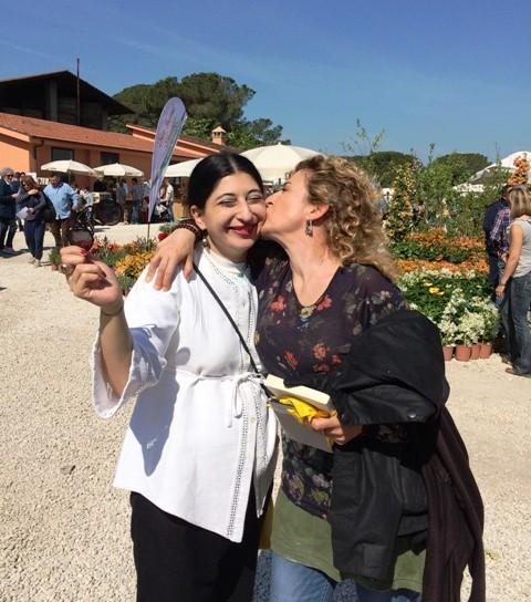 Life is sharing: Ilaria Venturini Fendi and me, photo by Stephan Hamel