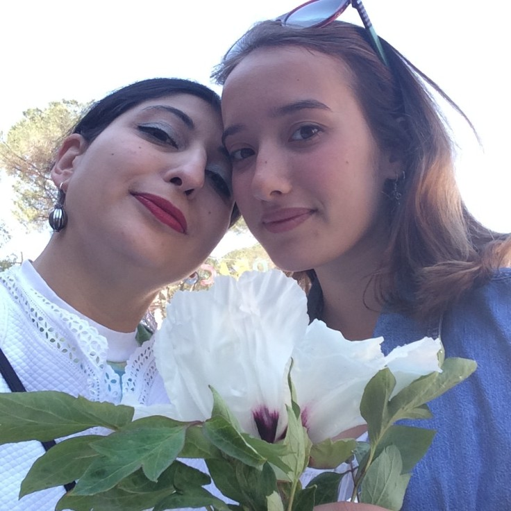 Leonetta Luciano Fendi, me and the peonies, photo by N